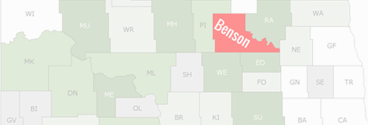 Benson County Map