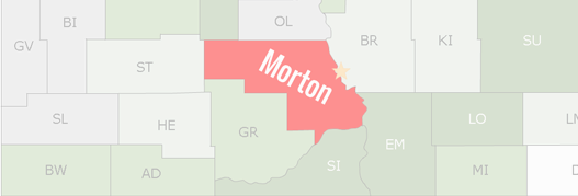 Morton County Map